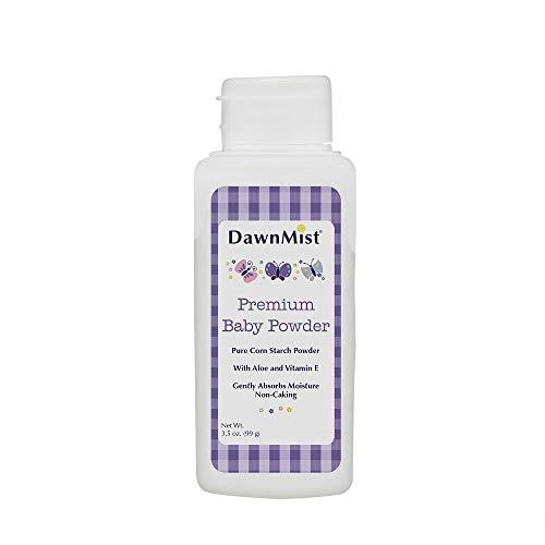Pack of 48 Premium Baby Powder. 3.5 oz Corn Starch Baby Powder. Talcum Free Baby Powder. Delicate Baby Powder. Prevents Diaper Rash and Absorbs Moisture. Aloe and Vitamin E. Hypoallergenic.