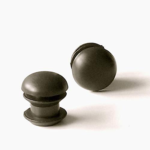 Embout /à lamelles rond pour tubes de diam/ètre 13 mm ajile EPR113-M NOIR 12 pi/èces