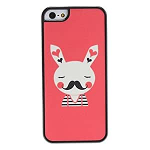 YXF Rabbit Pattern Hard Case for iPhone 5/5S