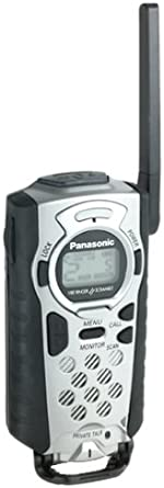Panasonic Palm-Link KXTR325S 2-Mile 14-Channel FRS Two-Way Radio Titanium Silver