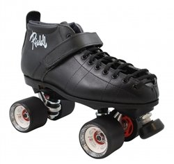 Skate Out Loud Riedell 126 Probe D-Rod Derby Skates Toe Stop Color: Purple   Plate Color: Black   Size: 9.5