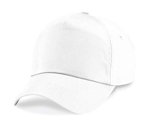 Size B10 Beechfield 5 Gorra paneles White Original One npYqT