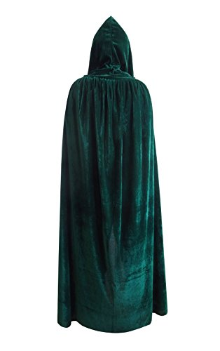 [Halloween Christmas Cosplay Costume Death Hoody Cloak Role Play Devil Hooded Party Cape for Men Women (62