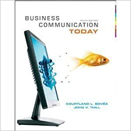 Book Business Communication Today [[10th (tenth) edition]]