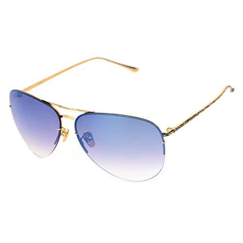 métallique Verres UV Lens Lunettes Silver Blue Soleil Sakuldes métal Frame Hommes de Gold pour Frame à Cadre polarisants 400 UV en Silver Lens Color C7wdYq