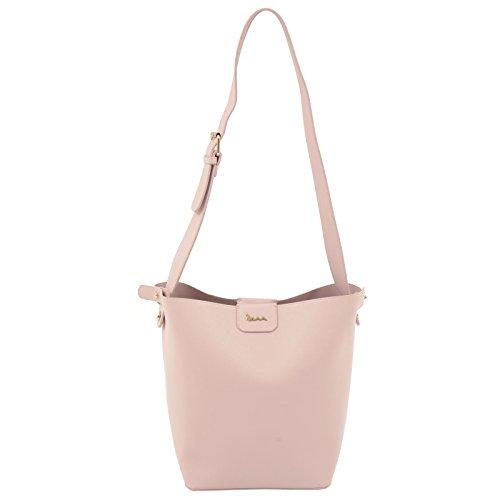 Bag Button PU Magnetic Fashion Shopper Leather Faux Size Pink Womens Shoulder Tote Handbag Lily JAM Closure Large Ladies wI1xOWqxZ6