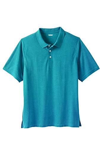 KingSize Men's Big & Tall Pique Polo Shirt, Heather Midnight Teal Big-2Xl ()