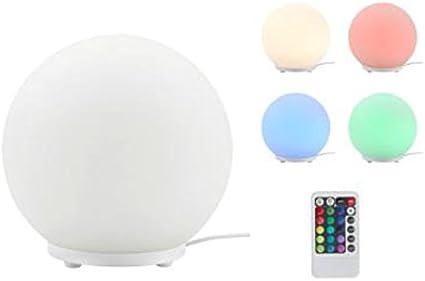 Briloner Leuchten RGB – Lámpara de mesa LED con cambio de color y ...