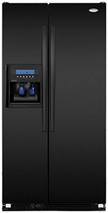 Whirlpool : GC5SHAXVB 36 24.5 cu. ft. Counter-Depth Side by Side Refrigerator - Black