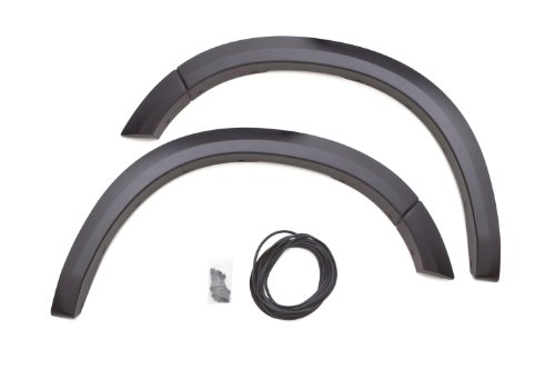 Price comparison product image Lund SX202SA Elite Series Black Sport Style Standard Front Fender Flare - 2 Piece