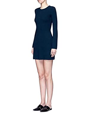 Theory ardesia dark mineral Prosecco sweater dress, size M