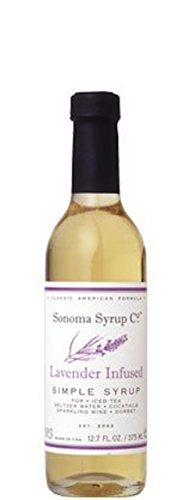Sonoma Syrup Company Organic Lavender Simple Syrup, 12.7 ounce, for Coffee, Cocktails, and Cooking