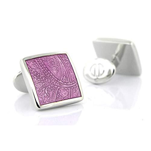- David Donahue Sterling Paisley Cufflinks - Light Purple (H95030202)