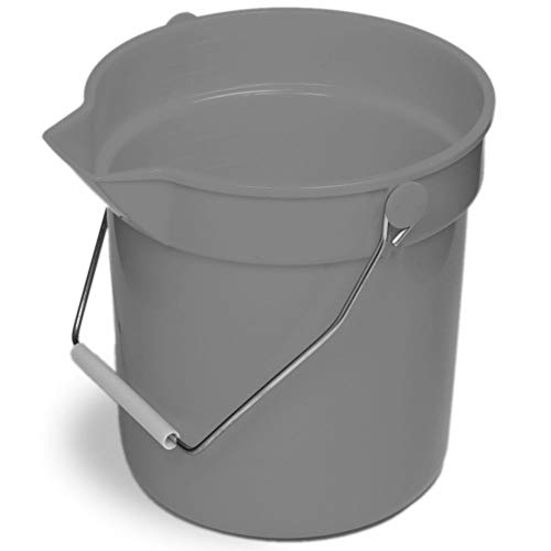 Continental 8110GY Huskee Gray 10 qt Bucket