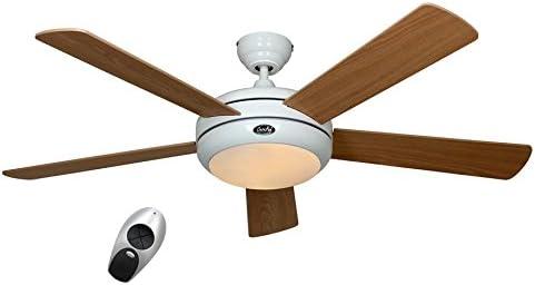 Casafan 9513258 Titanium WE-BU/KF Ventilador de techo con luz y ...