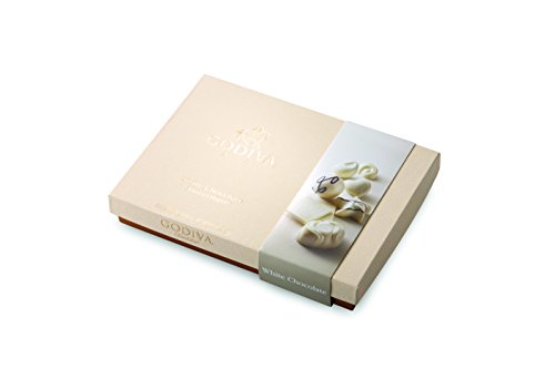 4 Piece White Chocolate Gift Box, 9.75 Ounce, Great for Mother's Day (Godiva Hazelnut Truffles)