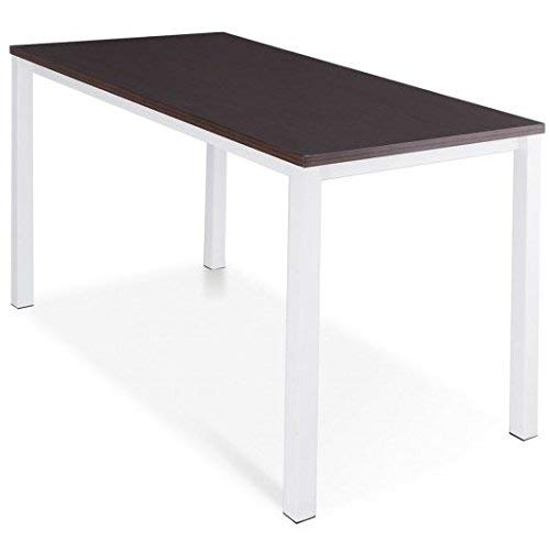 SKB Family Modern Wooden Computer Writing Table Workstation Innovativ e Fashionable Dark Walnut