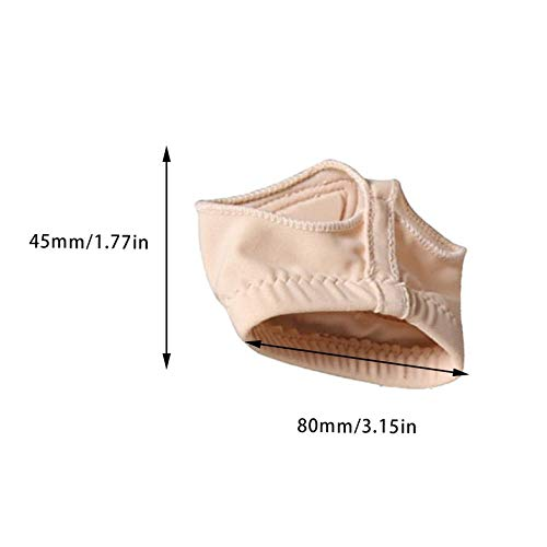 ouying1418 Belly Dance Silicone Foot Set Ballet Latin Adult Practice Shoes Forefoot Cover