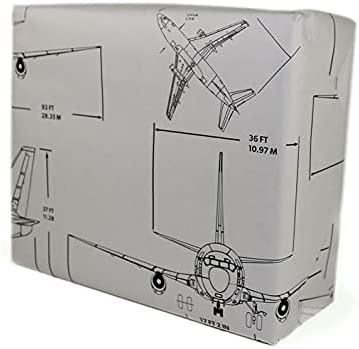 Boeing Airplane Graphic Gift Wrap