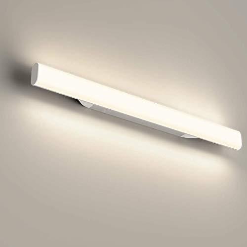OOWOLF 12W 1200LM Lampara LED de pared, Lampara de espejo Aplique de Bano LED 440mm 4000K Luz natural para Espejo Muebles de Maquillaje Aparato Montado en la Pared