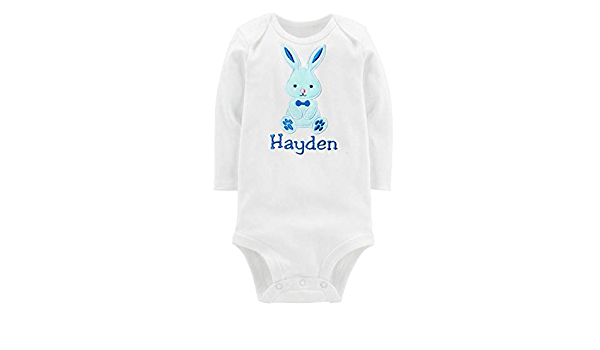 Spring Easter Bunny Ombr\u00e9 Hand Dyed Long Sleeve Organic Baby Onesie\u00ae Custom Tie Dye