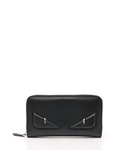 550fad7ea428 Amazon.co.jp: (フェンディ) FENDI モンスターオッキ バッグ バグズ アイ ラウンドファスナー長財布 レザー 黒 7M0210 中古:  服&ファッション小物