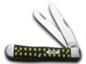 CASE XX Celtic Maze 1 1000 Yellow Trapper Pocket Knives