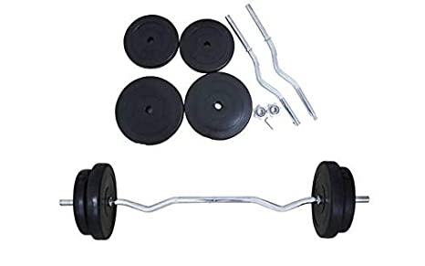 Generic EW Barra de Ejercicio W Home Workout Rcise Barbell Set 30 ...