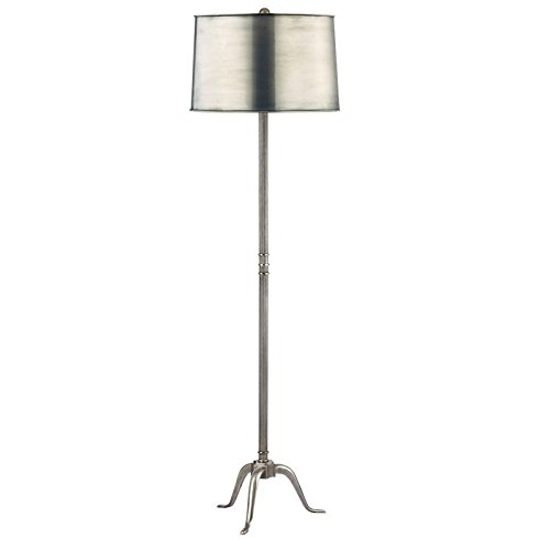 Burton 1-Light Floor Lamp - Aged Silver Finish with Aged Silver Metal Shade