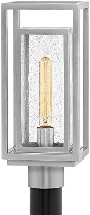 Hinkley 1001SI Republic Post Top Pier Mount Lantern, Medium, Satin Nickel