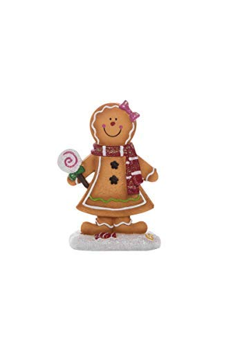 Transpac Imports D2201 Resin Gingerbread Figurines -