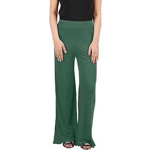 HUDAI Mehandi Green Solid Viscose Palazzo Pants For Women (Pack of 1, XXL)