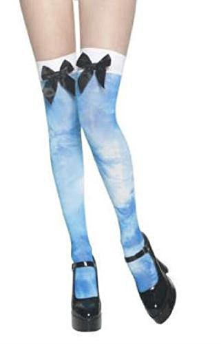 Blue Tie Dye Alice in LSD Land Thigh High Tights with (Alice In Chains Halloween Shirt)