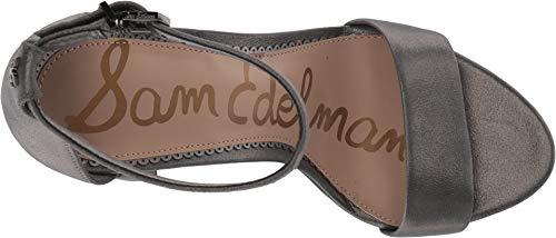 Femme Dark Sandales Leather Compensées Spirit Edelman Pewter Sam Yaro Metallic wFqSI4