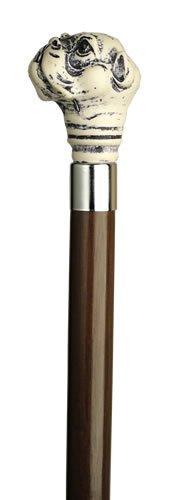 Unisex Bull Dog Head Cane Walnut Shaft  -Affordable Gift! Item #HAR-9107207