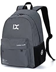 IX College School Backpack Lightweight Bookbag Weekend Travel Casual Daypack for Women and Men