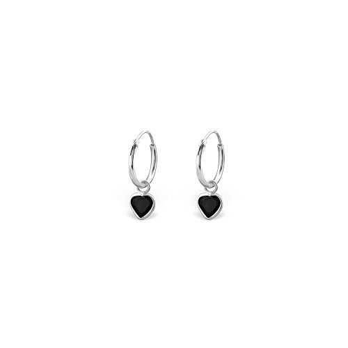 925 Sterling Silver Hanging Heart Ear (925 Sterling Silver Hanging)