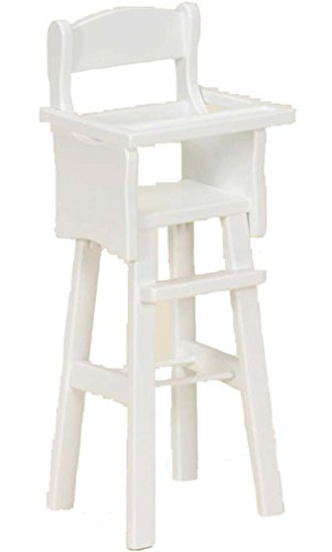 Amish Buggy Toys 18'' Doll Wooden Play Furniture High Chair, White by Amish Buggy Toys