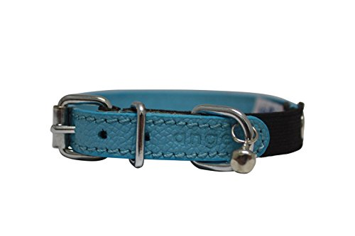 Image of Angel Pet Supplies Inc. Leather Elastic Break-Away Cat/Kitten Collar (Alpine). 10