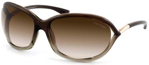 Tom Ford JENNIFER FT0008 Sunglasses TF8 Color 38F Brown Gradient TF - Brown Sunglasses Tom Jennifer Ford