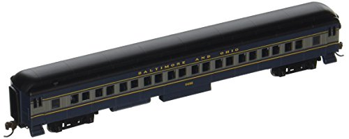 Bachmann-72' Heavyweight Coach w/Lights - Ready to Run -- Baltimore & Ohio (blue