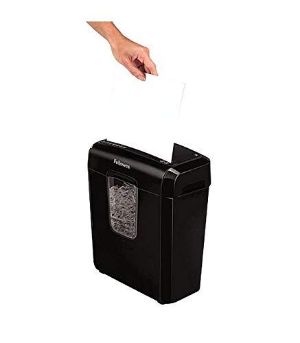Destructora trituradora de papel, corte en particulas, 6 hojas, capacidad 11 L, color negro