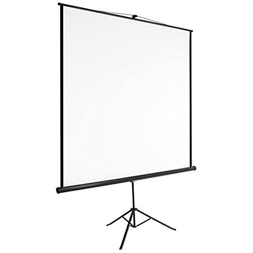 TecTake Pantalla con trípode para proyector 16:9 4:3 HD - varias tamaños - (152x152cm | no. 402513)