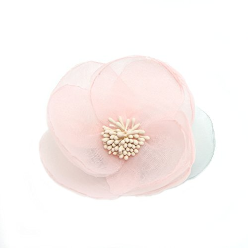 (Meilliwish New Style Elegant Silk Cloth Beautiful Flower Hair Claw Clip Hair Pin for Women (A93)(Pink))