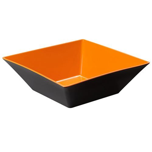 Brasilia ML-249-OR/BK Square Bowl, 12.8 quart, Orange/Ivory (Pack of 3)