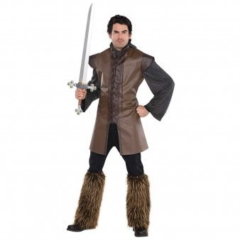 Amscan 842982 Renaissance Warrior Tunic - Adult Standard, Multicolor, -