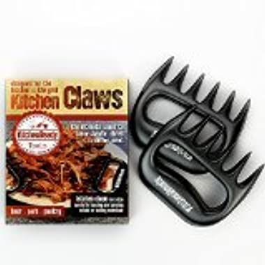 Toughest Pulled Pork Shredder Claws By KitchenReady, BBQ Meat Forks, BPA Free Claw Handler For Shredding, Pulling Brisket From Grill, Smoker, Slow Cooker, E-Book Included With Recipes