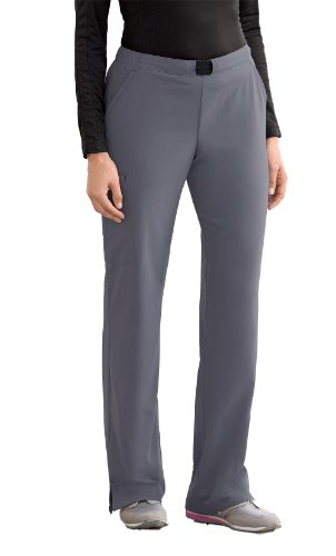 Modern Fit Collection By Jockey Women's Convertible Drawstring Scrub Pant Small Tall Pewter