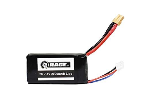 Rage RC 4212 2S 7.4V 2000mAh LiPo Battery; Imager 390