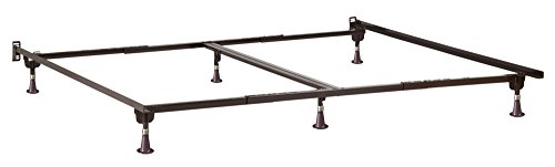 Atlantic Furniture E-63166-G Metal Bed Frame with Glides, Tw